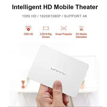 WIFI Proyector DLP Mini Portátil De Alta Definición En 3D De Vídeo ...