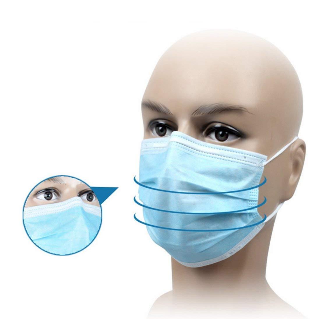 50Pcs chirurgico monouso antipolvere chirurgico bocca mascherine orecchio Loop
