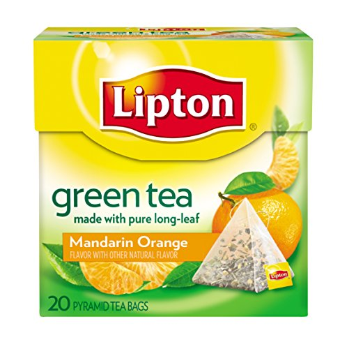 UPC 041000210846, Lipton Green Tea Pyramids, Mandarin Orange 20 ct