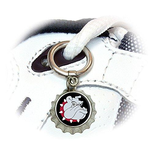 Bulldog Dog Shoe Sneaker Shoelace Bottlecap Charm Decoration