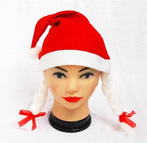 Tosangn Santa Claus Christmas Holiday Xmas Red Cotton Cap Hats (Santa Claus Cap)