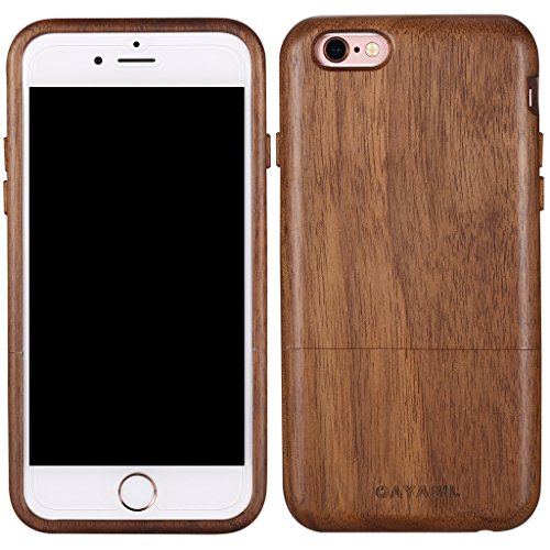 Walnut Wood Case - iphone 6 6s Wood Case 4.7'',OAYAWL Unique Handmade Genuine Natural (Black Walnut) Wooden Hard Case Cover for iPhone 6/6s
