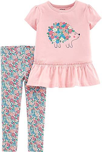 Girl Hedgehog - Carters Toddler Girls Hedgehog Floral Leggings Set 2T Pink Multi