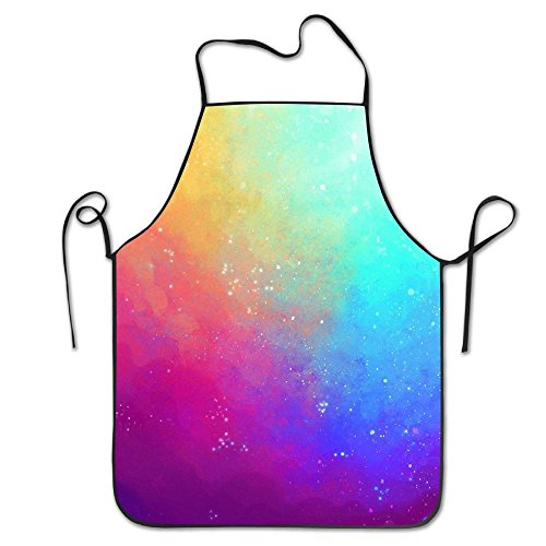 Unisex Colorful Sky Apron For Women And Men 100% Polyester Durable Comfortable Bib Chef Kitchen Aprons