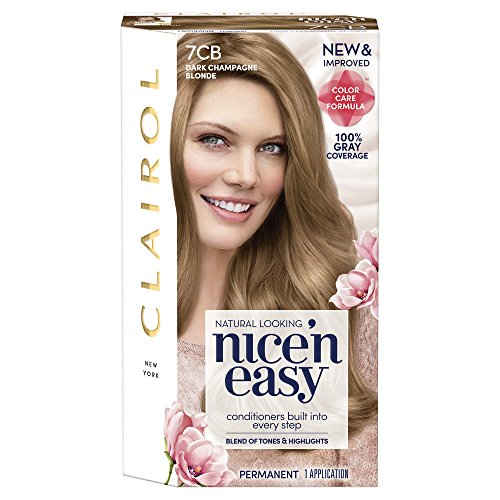 Clairol Nice 'n Easy, 7CB/106B Dark Champagne Blonde, Permanent Hair Color, 1 Kit (Pack of 3) (Packaging May - Champagne 8.5a