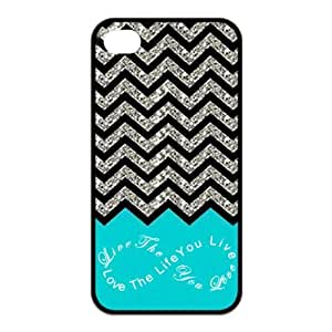 Design For You Colorful Chevron Pattern Live the Life You Love, Love the Life You Live APPLE IPHONE 4/4S Rubber Cover Case Without Glitter by ruishernameMaris's Diary