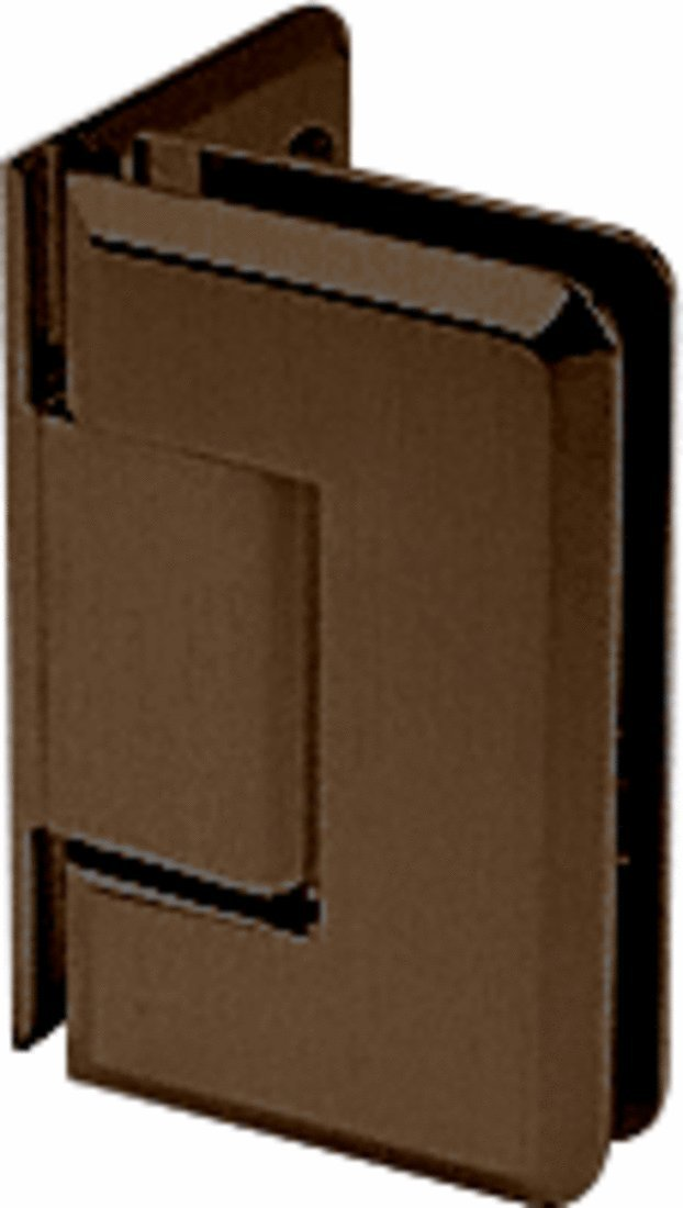 CRL Pinnacle 544 Series Oil Rubbed Bronze 5° Wall Mount Offset Back Plate Hinge
