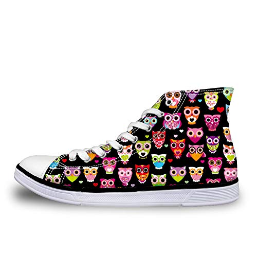 Nopersonality Stringate Cartoon Donna Owl Scarpe UPwZwWXq1