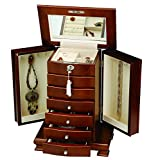 Seya Contemporary Handcrafted Luxury Wooden Jewelry Box (Walnut)