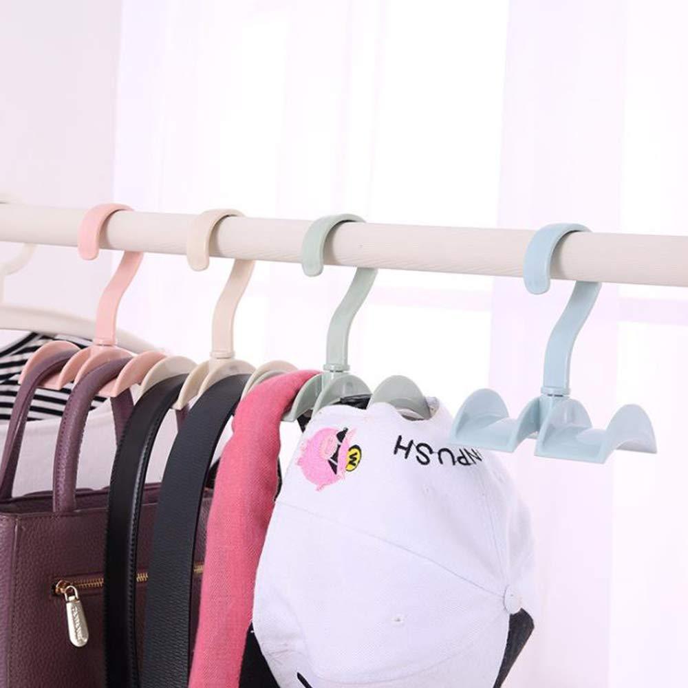 4PCS Xinlie Appendino Regolabile per Cravatta Portacravatte Classico Hook Premium Porta Cravatta Girevole Storage Rack Holder Bag Borsa Holder Borse Hook Hanger Hooks for Bag Backpack Strap Tie Scarf