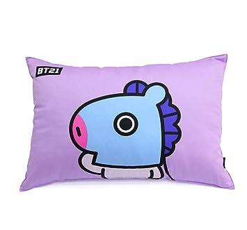 Amazon.com: BT21 BTS - Almohada de algodón con diseño de ...