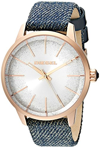 Diesel Women's 'Castilia' Quartz Stainless Steel and Cloth Casual Watch, Color:Blue (Model: DZ5566)