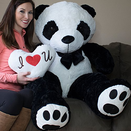 Yesbears 5 Foot Giant Panda Bear Ultra Soft Paws Embroidery (Pillow Included) ()