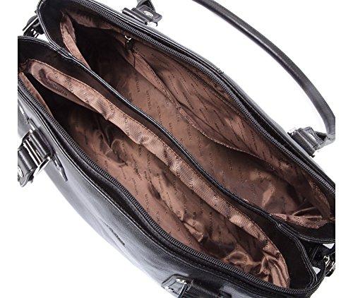 24x36cm Narbenleder Kollektion 35 Tasche 524 Passend 1 4 Klassische A4 WITTCHEN Größe Venus Schwarz für Ja 4pwfxx