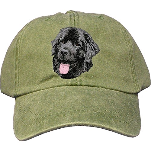 Cherrybrook Dog Breed Embroidered Adams Cotton Twill Caps - Spruce - Newfoundland