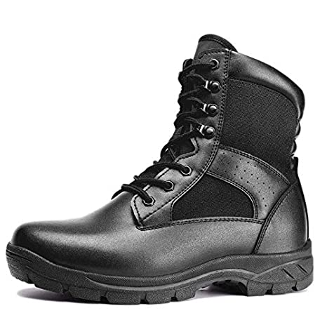 Mens Camouflage Safety Work Lace Up Breathable Steel Toe Combat Shoes Boots