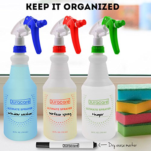 b29ade83b450 Amazon.com: Duracare Plastic Spray Bottles with Adjustable Nozzle ...