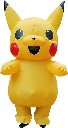 KOOYNN Inflatable Yellow Costume Adult Kid Halloween Blow Up Costume
