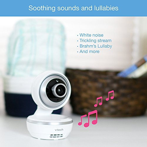 """VTech VM5261 5"""" Digital Video Baby Monitor with Pan & Tilt Camera, Wide-Angle Lens and Standard Lens, White by VTech (Image #6)"""