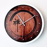 FortuneVin Wall Clock Non-ticking Number Quartz Wall Clock Living Room Decorative Indoor Bedroom Kitchen 3D3-Dimensional Fashion Creative Zen Meditation Yoga Field Wall Table Silentd, White Box