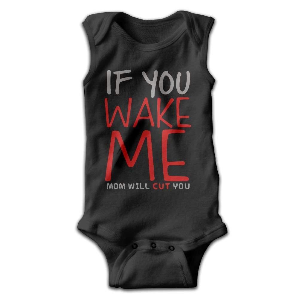 ssribeautyk Wake Me Mom Cut You Newborn Infant Baby Summer Sleeveless Bodysuit Romper Jumpsuits Playsuit