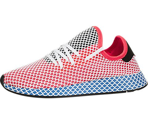 adidas Mens Originals Deerupt Runner Solar Red/Blue Bird Mesh Size 10.5