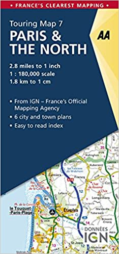 Map Of France North.Aa Road Map Paris The North Aa Touring Map France 07 Aa Road