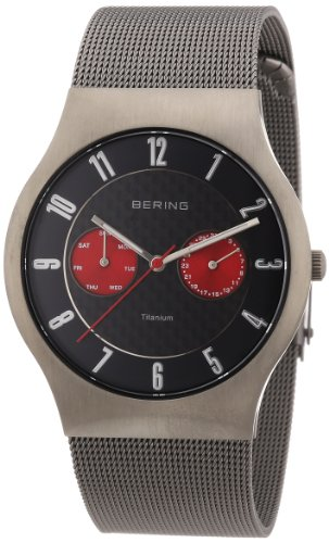 BERING Time 11939-079 Men's Classic Collection Watch with Mesh Band and scratch resistant sapphire crystal. Designed in Denmark.