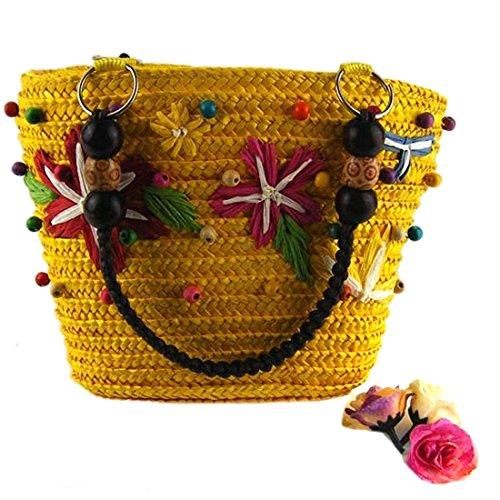 Estivi Borse Sacchetto Tessuto Giallo Le Bag Caramella Casuali Del Tracolla Shopping Qiyun Donne A Della z Colore O6qEwYvq