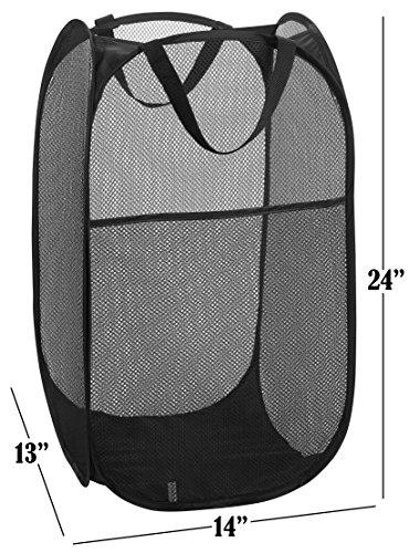 Mesh Popup Laundry Hamper Portable Durable Handles