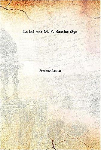LA LOI BASTIAT EPUB DOWNLOAD