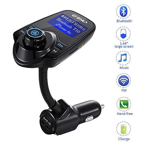 GT ROAD tpzl-pzp1-21 Bluetooth Car Music Adapter and FM Transmitter LED Display, (Advantage Music)