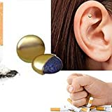 Aolvo 2 Pcs Quit Stop Smoking Magnetic Therapy Ear Auricular Loss Weight Acupressure Smoking Stopper
