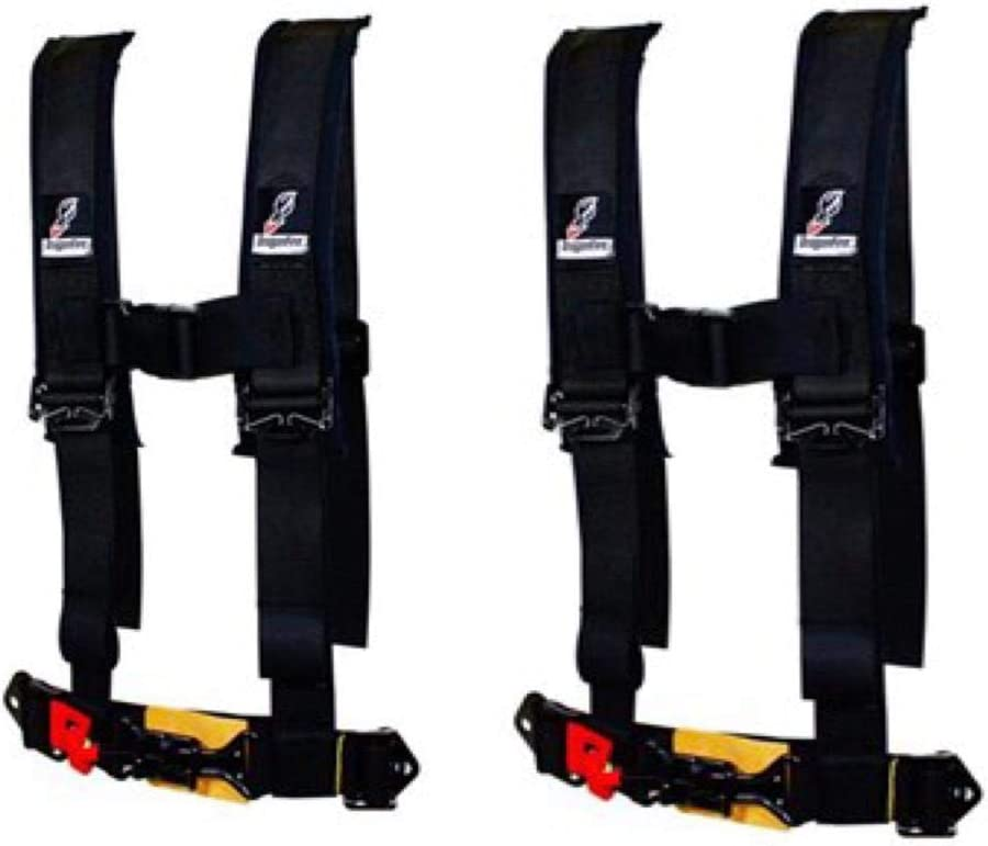 """PRO ARMOR 4 Point Harness 3/"""" Pads Seat Belt PAIR RED YAMAHA YXZ1000 YXZ 1000R"""