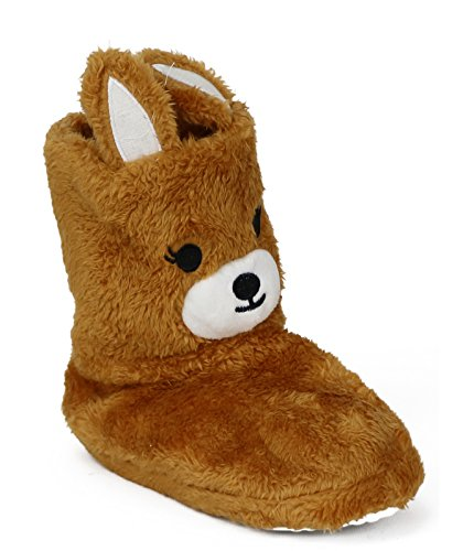Chatties Girls Animal Slipper Boots (Little Kid/Big Kid) (13-1 M US Little Kid, Brown Kangaroo)