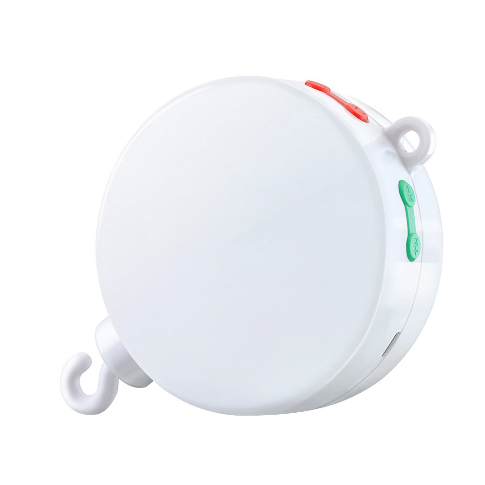 [Update Version] VicTsing Battery-operated Baby Bedding Musical Mobile Music Box - White CA-PHM002