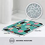 "Border Collie Dogs Donut Fabric Cute Donuts Design Cute Border Collies Fabrics Border Collies Fabrics Floor Bath Entrance Rug Mat Absorbent Indoor Bathroom Decor Doormats Rubber Non Slip 15.7"" X 23.5"" 7"
