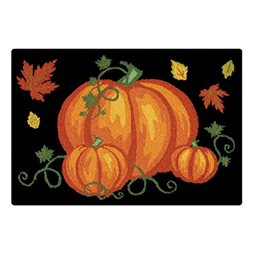 C&F Home Pumpkin Patch Halloween Hooked Rug, 2' x 3' , Black ()