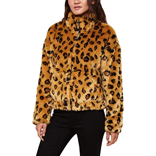 - Juicy Couture Black Label Women's Leopard Print Faux Fur Coat Brown Size