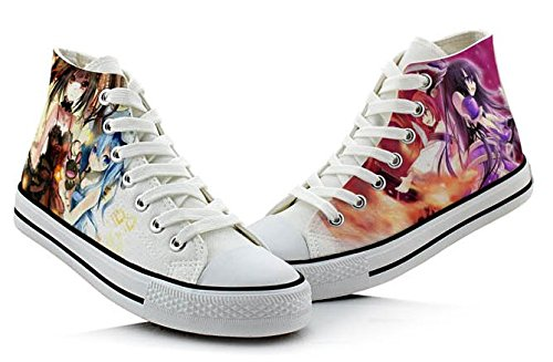 Date A Vivre Tokisaki Kurumi Yatogami Tohka Cosplay Chaussures Toile Chaussures Sneakers Coloré