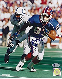 Andre Reed Signed Buffalo Bills 8x10 Photo with - Beckett Certified