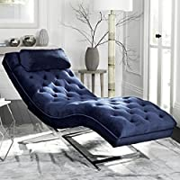 Safavieh FOX6286B Chaise, Normal
