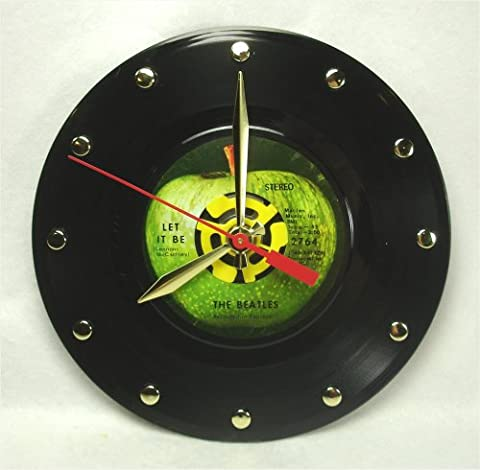 "The BEATLES 7"" 45rpm Record Clock ""Let It Be"" (1970) (Beatles 45rpm)"