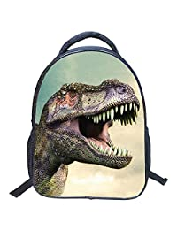 Artone 3D Jurassic Dinosaur Padded Backpack Kids School Bag White