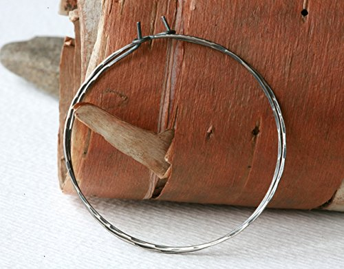 minimalist-large-and-light-rustic-sterling-silver-skinny-hoop-earrings-with-hammered-facets-in-antiq