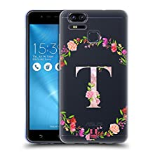 Head Case Designs Letter T Decorative Initials 2 Soft Gel Case for Asus Zenfone 3 Zoom ZE553KL