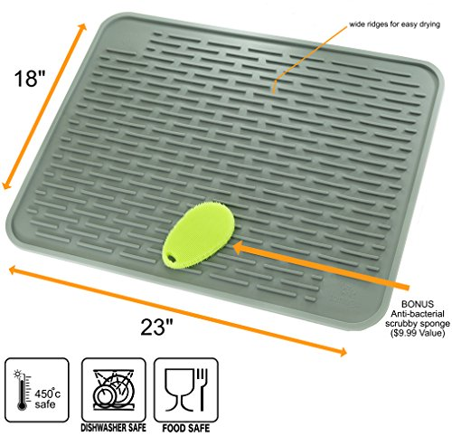 Xxl Silicone Dish Drying Mat Cast Iron Freaks