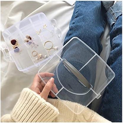Shellme アクセサリーケース プラスチック 携帯用 三階 ジュエリー収納ケース 持ち運び アクセサリーボックス 大容量 ジュエリーボックス 指輪 ピアス イヤリング 小物収納 クリア