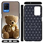 CaseRepublic Printed Back Cover Case Compatible for Oppo A54 Cases & Covers (Carbon Fiber Rugged Armor Black Color)-17