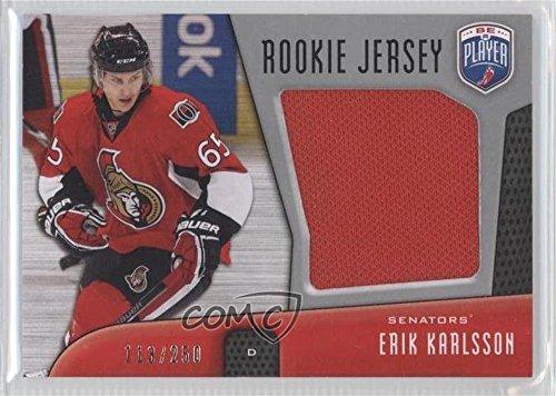 Erik Karlsson #113/250 (Hockey Card) 2009-10 Upper Deck Be a Player - Rookie Jersey #RJ-KA